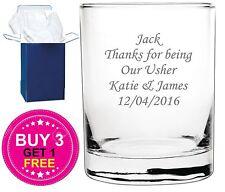 Personalised Engraved Whisky Whiskey Spirit Glass Tumbler Retirement Gift