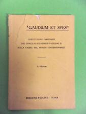 GAUDIUM ET SPES.COSTITUZIONE PASTORALE CONCILIO ECUMENICO VATICANO II.PAOLINE