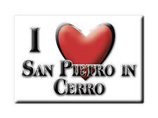 CALAMITA EMILIA ROMAGNA MAGNETE SOUVENIR I LOVE SAN PIETRO IN CERRO (PC)