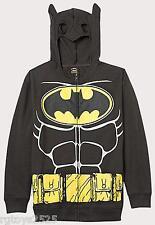 Batman Hoodie Costume Jacket 4-5 6-7 8 10-12 New Sweatshirt Childs DC comics