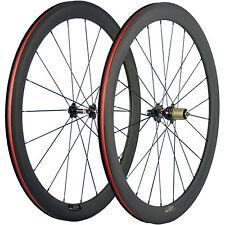 1 Set 50mm Carbon Clincher Wheelset 23mm Wide Basalt Brake Surface Road Bicycle