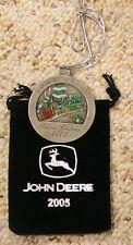2005 John Deere Pewter Christmas Ornament NEW