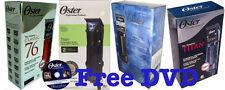 OSTER Professional Hair Clipper Titan Ex2s 97 Classic 76 Detachable Blade & DVD