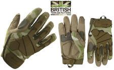 BTP Camuflaje Ejército Guantes Alpha Tactical Hardshell Nudillo Micro fibra de palma de disparo
