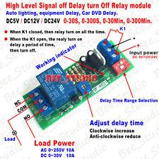 Adjustable Delay Turn Off Switch Delay Timing Timer Time Relay Module 5v 12v 24v