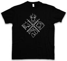 House Emblems t-shirt Game of Swords houses Thrones Wolf fuertemente deer tagaryen