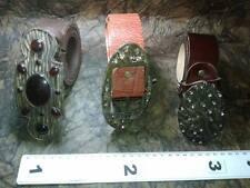 CINTURA PELLE 4 CM FIBBIA cuoio marrone artigianale vintage BELT BUCKLE ME10