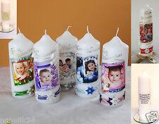 Taufkerze Weihnachtskerzen ,Motivkerzen  mit Foto  Adventskerzen,Junge,Mädchen