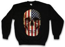 USA TESCHIO BANDIERA FELPA Stati Uniti D'America Banner US Star Sweat Maglione