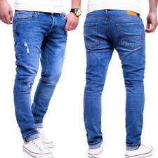 Jack & Jones Jeans Hose TIM Röhrenjeans Slim Fit Ben Chinohose Blau/Grau NEU