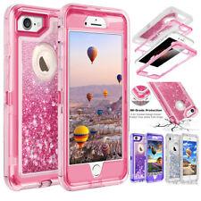 iPhone 8 7 Plus 6S/X Glitter Quicksand Flowing Liquid Full-Body Protective Case