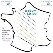 fil électrique de câblage extra souple lify 0.75mm²