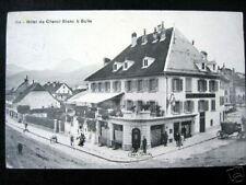 Switzerland~1912 BULLE~HOTEL DU CHEVAL-BLANC