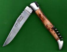 gravé prénom Loupe CADE GENÉVRIER Couteau 12 LAGUIOLE d'Artisan CADE -odorant-