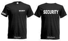 SECURITY T-Shirt Sicherheitsdienst Brust Rücken Ärmeldruck Neu SilberReflekt