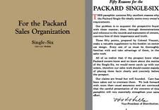 Packard 1924 - 1924 Packard Single Six (226 - 233 Models) - For the Packard Sale
