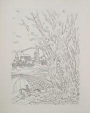 JEAN GRADASSI Memoirs of Cardinal Dubois 1950 Set of Nine B&W Illustrations