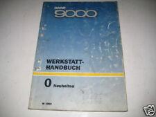 Werkstatthandbuch Saab 9000 Neuheiten ,Stand 1989