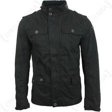 Brandit Britannia Jacket - Black Coat Mens Winter Smart Military Hood All Sizes