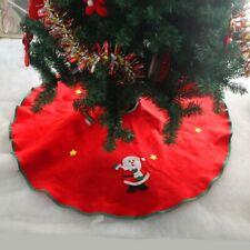 Christmas Tree Skirt Aprons Weihnachten Decorations Straight Edge 90CM Non-Woven