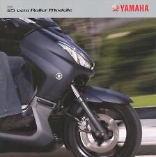 Yamaha 125 Roller folleto 2008 Majesty Vity Xcity XMIN scooters asia japón
