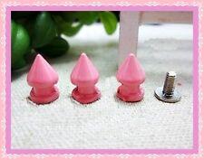 10pz borchie sfuse  killer 7mmX13mm colore ROSA*10pcs KILLER STUDS color pink