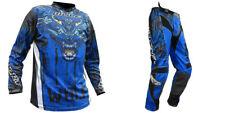 NEW Wulfsport BLUE Kit Jersey + Pants Adults Motocross Enduro Trousers Shirt