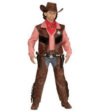 Cow Boy Kostüm Verkleidungen Jungenkostüm Cowby Cowboykostüm Chaps Hut Weste neu