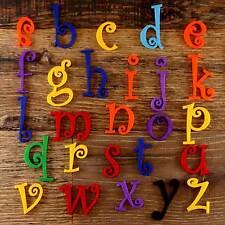 Ensemble alphabet Curlz 3mm feutre minuscules A-Z 26 caractères tailles 5-12cm