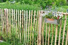 Englischer Staketenzaun Kastanie - Länge 5 Meter, Höhen 50 bis 200 cm