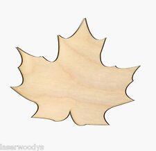Maple Leaf Unfinished Wood Shape Cut Out ML5017 Crafts Lindahl Woodcrafts