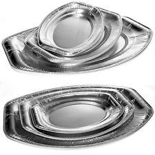 10 - 50 Alu Servierplatten oval Buffetplatten Partyplatte Aluschalen Catering