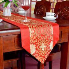 Chinois Vintage Chemin de table jacquard floral Mariage Fête maison décoration