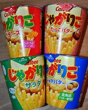 "Calbee Potato Snacks ""Jagariko"" 6 Flavors incl Seasonal Limited, Japan"