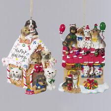 Happy Holiday Dog House Ornament