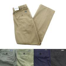 IZOD Mens Flat Front Straight Fit Expandable Waist 100% Cotton Chino Khaki Pants