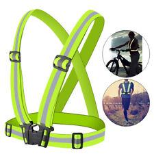 Adjustable Outdoor Sports Cycling Vest Harness Reflective Belt Safety Jacket