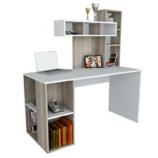 Schreibtisch Weiß Computertisch Kinder Bürotisch PC Tisch Arbeitstisch mit Regal