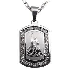 Silver Pt Ali Necklace Islamic Imam Ali Pendent Muslim Islam Dhal Fiqar Chain