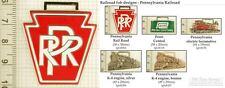 Pennsylvania railroad decorative fobs, various designs & keychain options