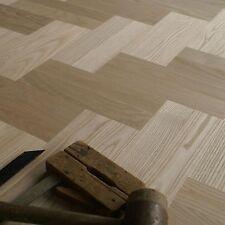 "White Ash Wood 12"" Parquet Classique - Select Grade - Herringbone Floor (HD20)"