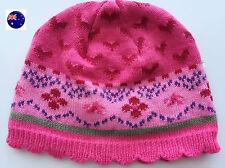 NEW NEXT Brand Baby Kids Girls Warm Pink Knit Cap Hat Beanie Bonnet 000-1.5Year