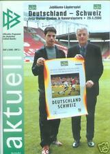 26.04.2000 DFB-actualmente 1/2000 Alemania-Suiza