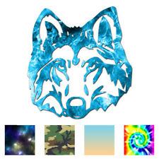 Wolf Dog Head - Vinyl Decal Sticker - Multiple Patterns & Sizes - ebn1036