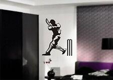 CRICKET BATSMAN Wall Art Sticker, decal, 3 x sizes, Mural, Transfer, Vinyl