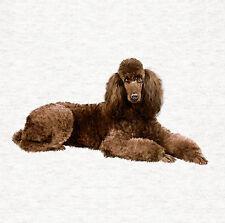 Poodle | Chocolate Poodle Dog Fabric Cushion / Upholstery Craft Panel
