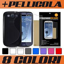 COVER per GALAXY S3 i9300 SAMSUNG + PELLICOLA ; COVER CASE SILICONE TPU OFFERTA