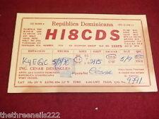QSL RADIO CARD - HI8CDS - DOMINICAN REPUBLIC - 1978
