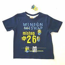 MINIONS t-shirt 2-3 ou 6-7 ans marine Minion manches courtes DESPICABLE ME