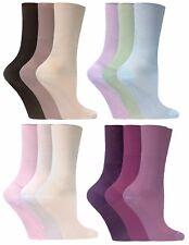 3er Pack Damen Atmungsaktiv Bunt Komfortbund Bambus Socken ohne Gummi für Sommer